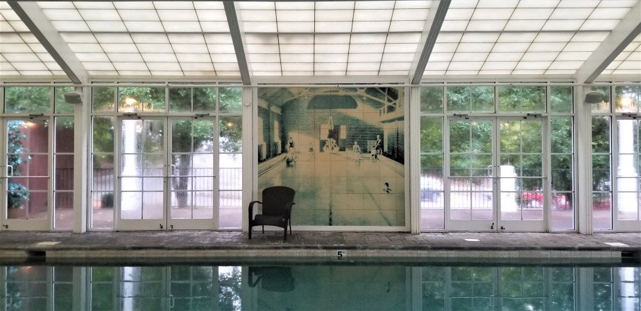 mural at the pool at the martha washington inn