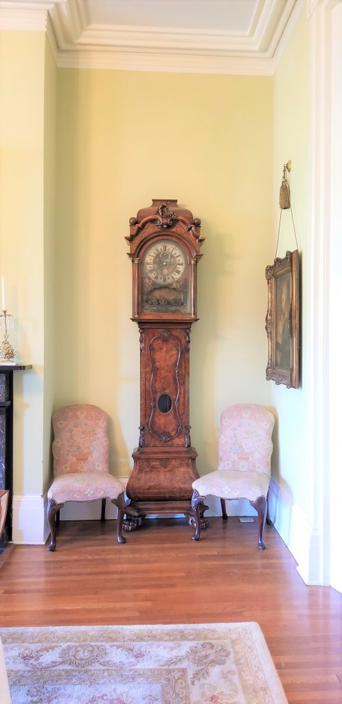 grandfather clock at the martha washington inn