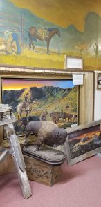 bar mural at Geronimo Springs Museum in Truth or Consequences, New Mexico