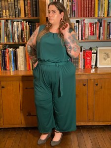 green plus size jumpsuit from target
