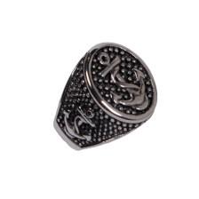 SL Εντυπωσιακό Ατσάλινο Ανδρικό δαχτυλίδι Σφραγίδα Άγκυρα