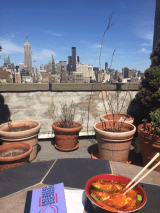 An NYC rooftop.