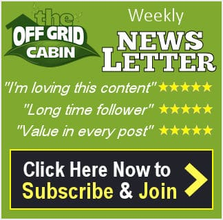 The Off Grid Cabin Weekly Newsletter Subscription