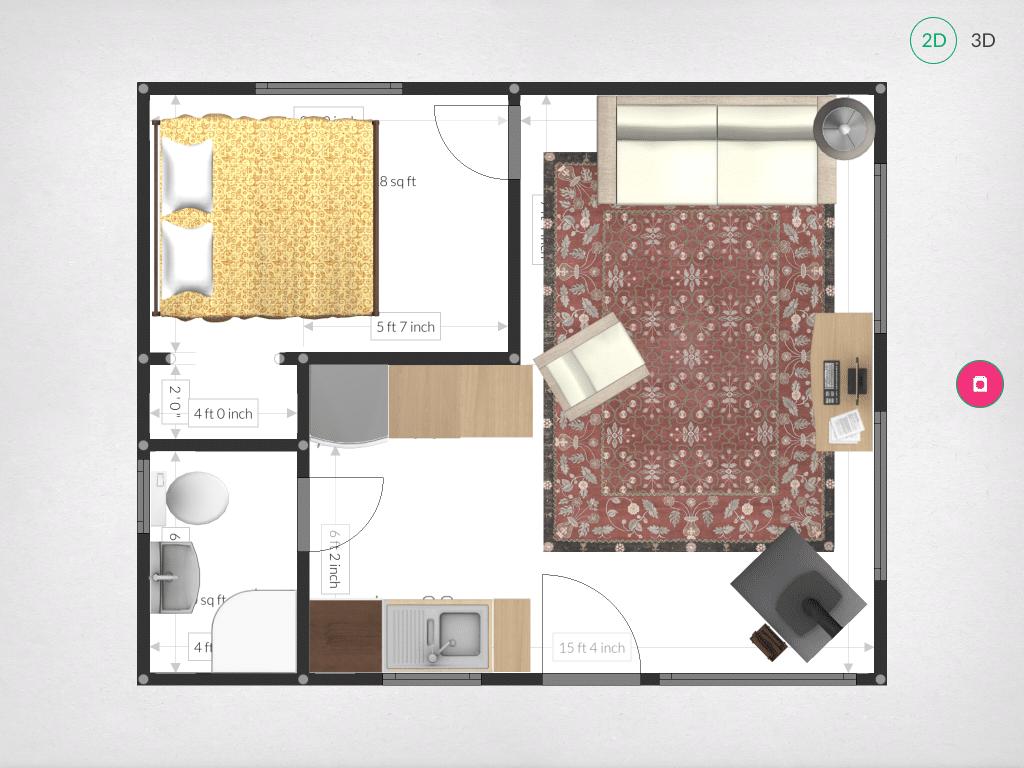 Perfect Floor Plan: This 20ft X 24ft Off Grid Cabin Floor Plan Is ...