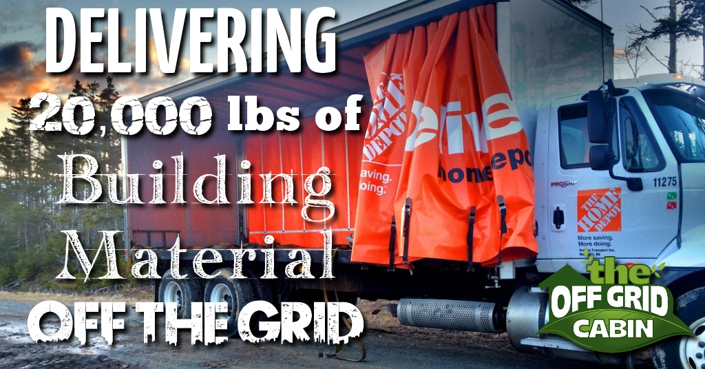 Delivering Building Materials off the grid