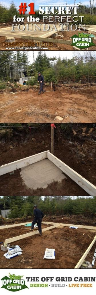 The Secret To A Perfect Cabin Foundation Pinterest Image