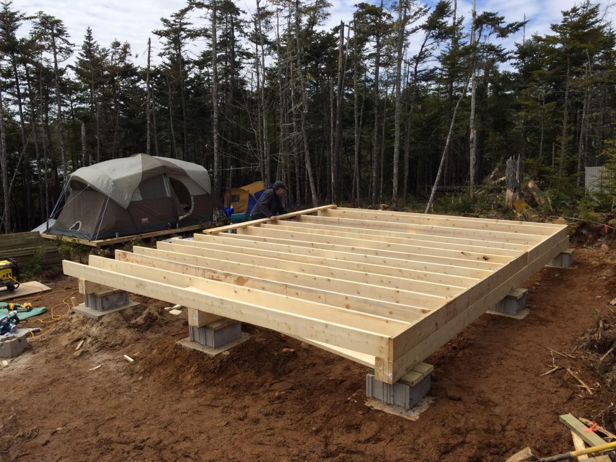 Building A Floor With Cinder Block