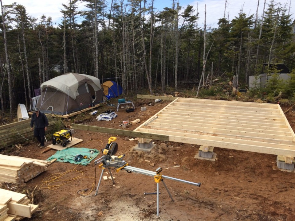Finished the cabin floor joist