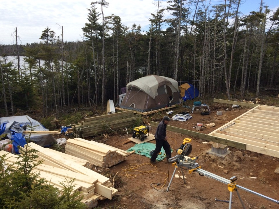 Joist off grid cabin complete