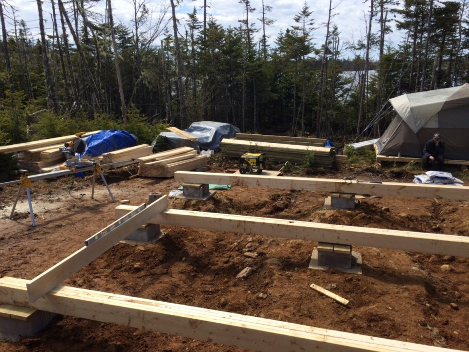 Leveling the beams and foundation