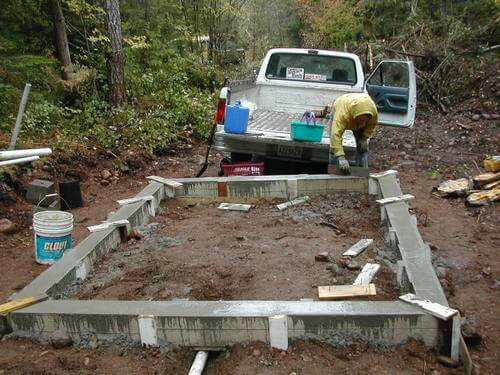 Poured Cement Foundation