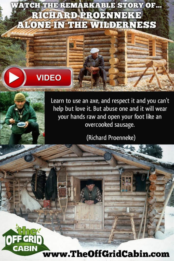 Alone in the Wilderness Documentary at The Off grid Cabin