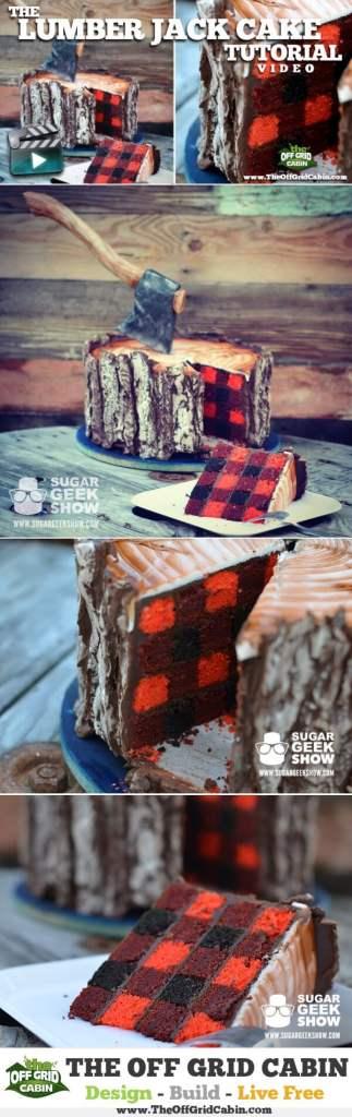 How To Make A LumberJack Cake Tutorial