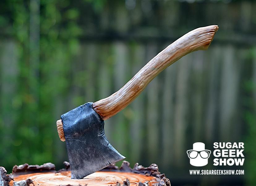 Lumber Jack Cake axe on top