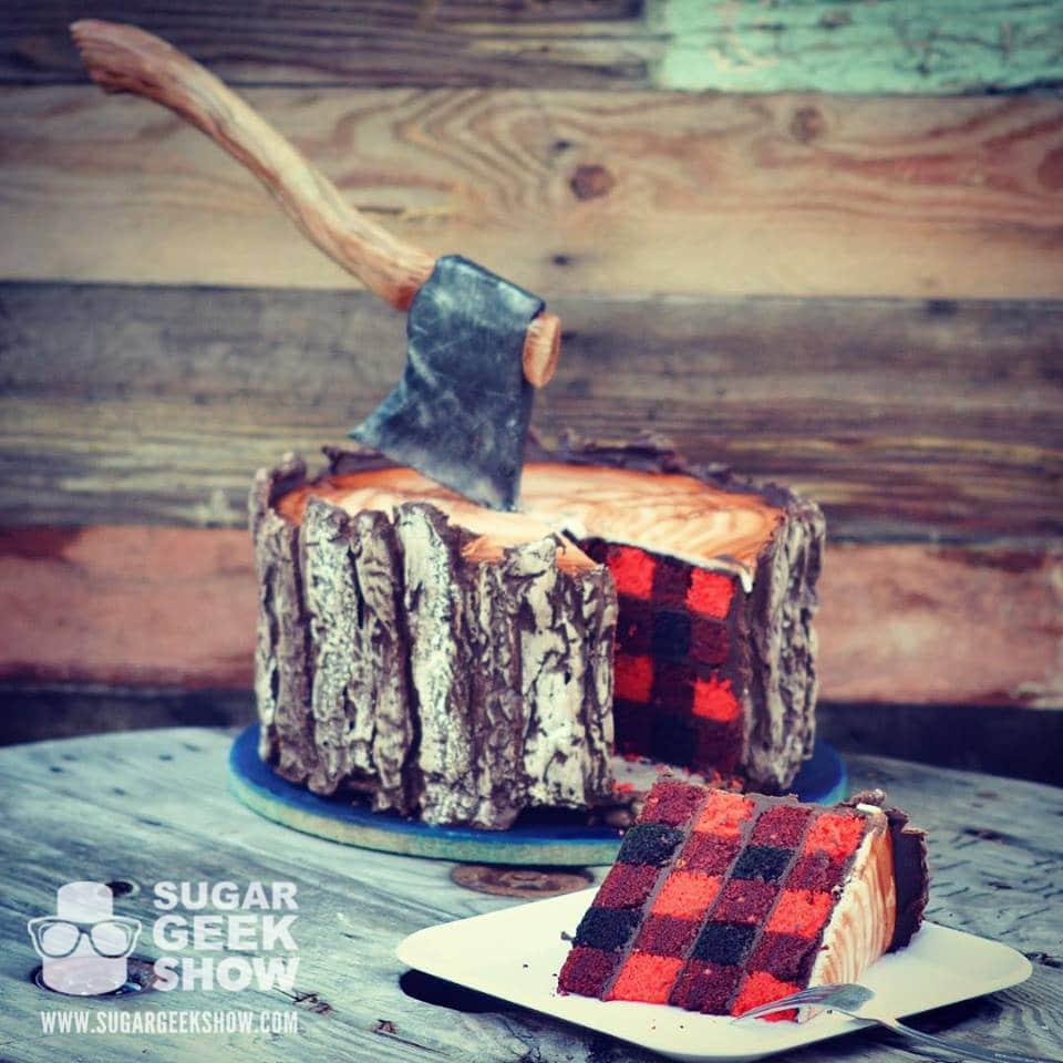 Lumber Jack Cake inside