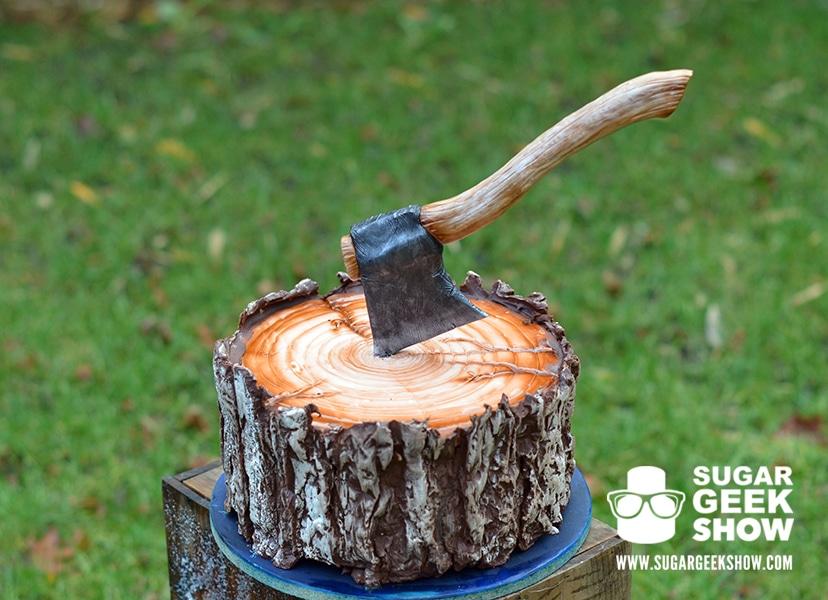 Lumber Jack Cake with Axe