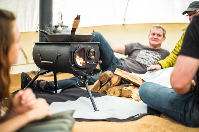 Frontier Plus Portable Woodstove 7  sc 1 st  The Off Grid Cabin & Portable u0026 Foldable Woodstove that Heats up Tents Yurts u0026 Cabins