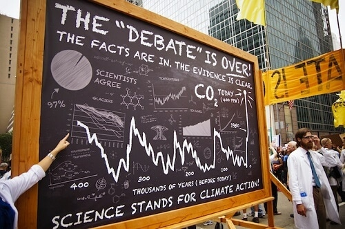 Scientists at the 2014 Peoples Climate March in NewYork
