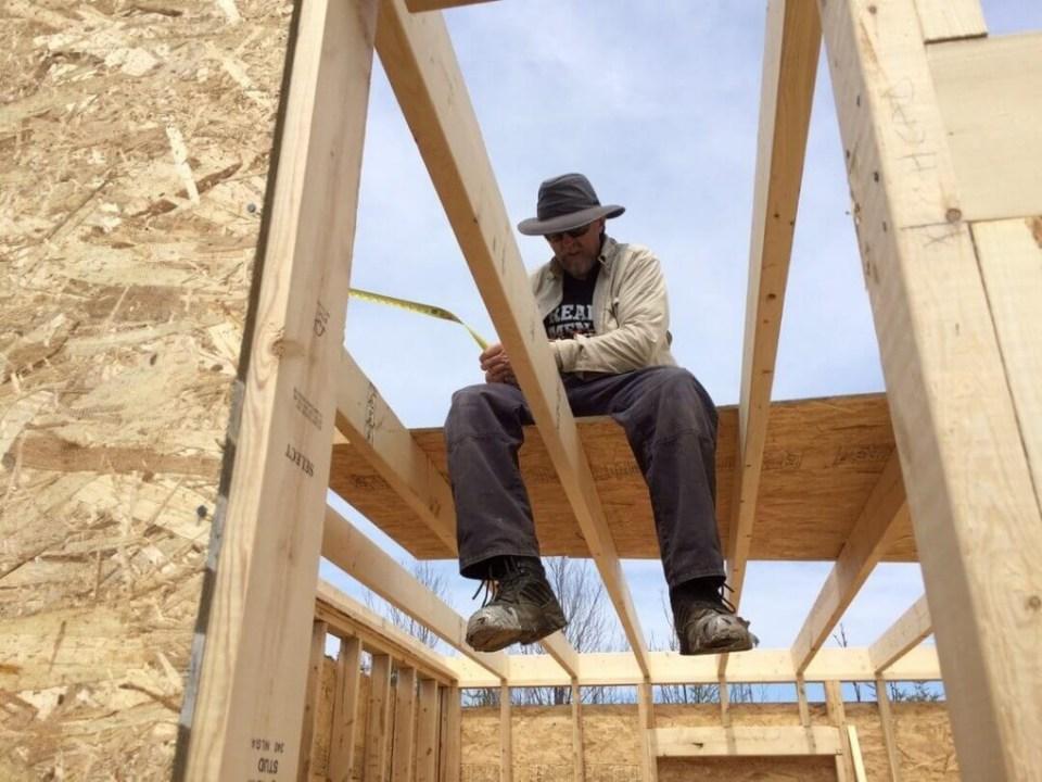 Framing The Cabin Loft Floor Joist Flooring 1