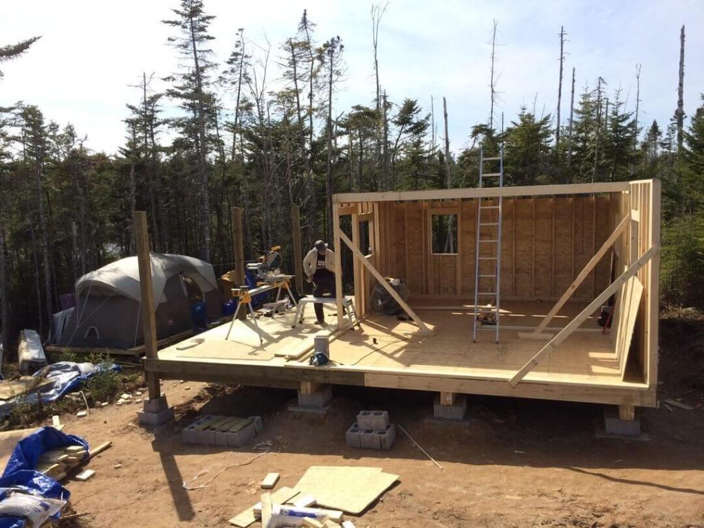 Framing The Cabin Loft Floor Joists Complete