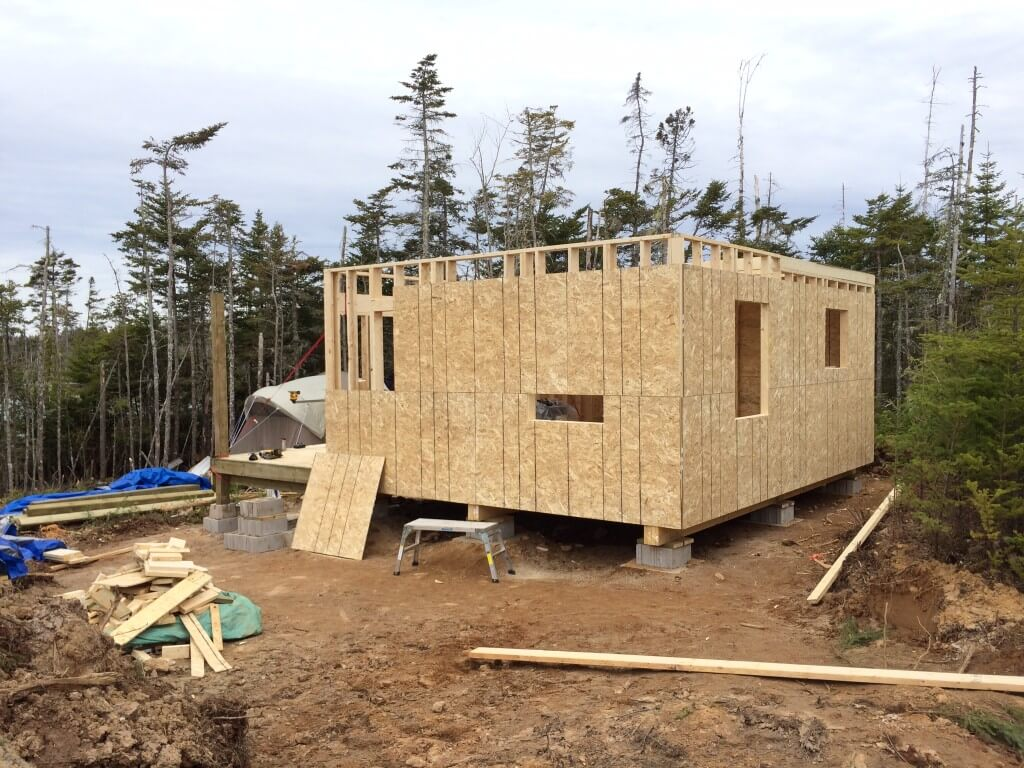 Framing The Off Grid Cabin Sheathing