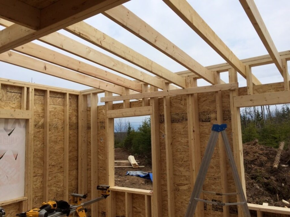 Framing The Walls End wall complete