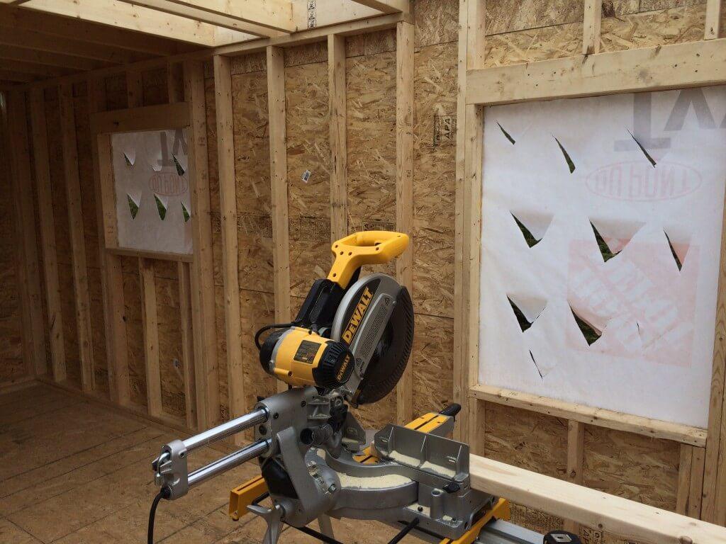 Framing The Walls Tyvek Holes