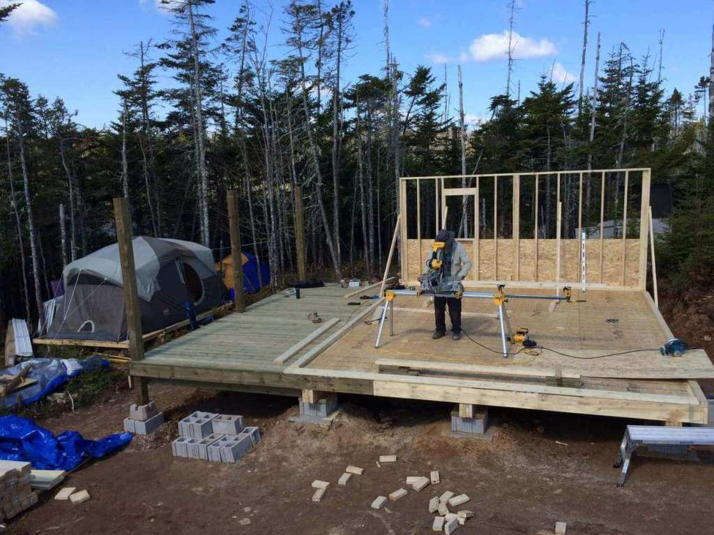 Framing-the-Off-grid-Cabin-First-Wall-4
