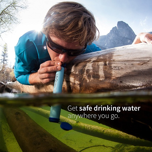 LifeStraw Personal Water Filter for Hiking, Camping, Travel and Emergency Preparedness
