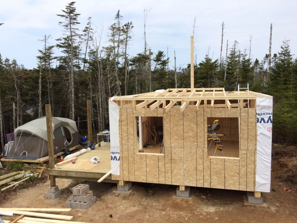 The Off Grid Cabin Temporary platform