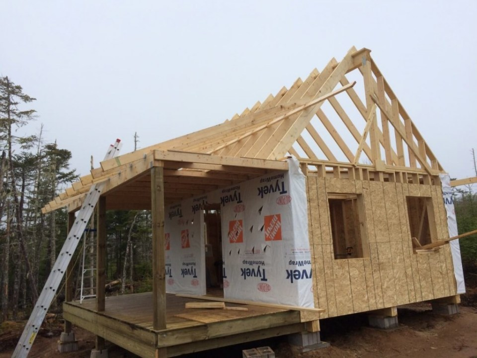 One-Half-of-gable-framed