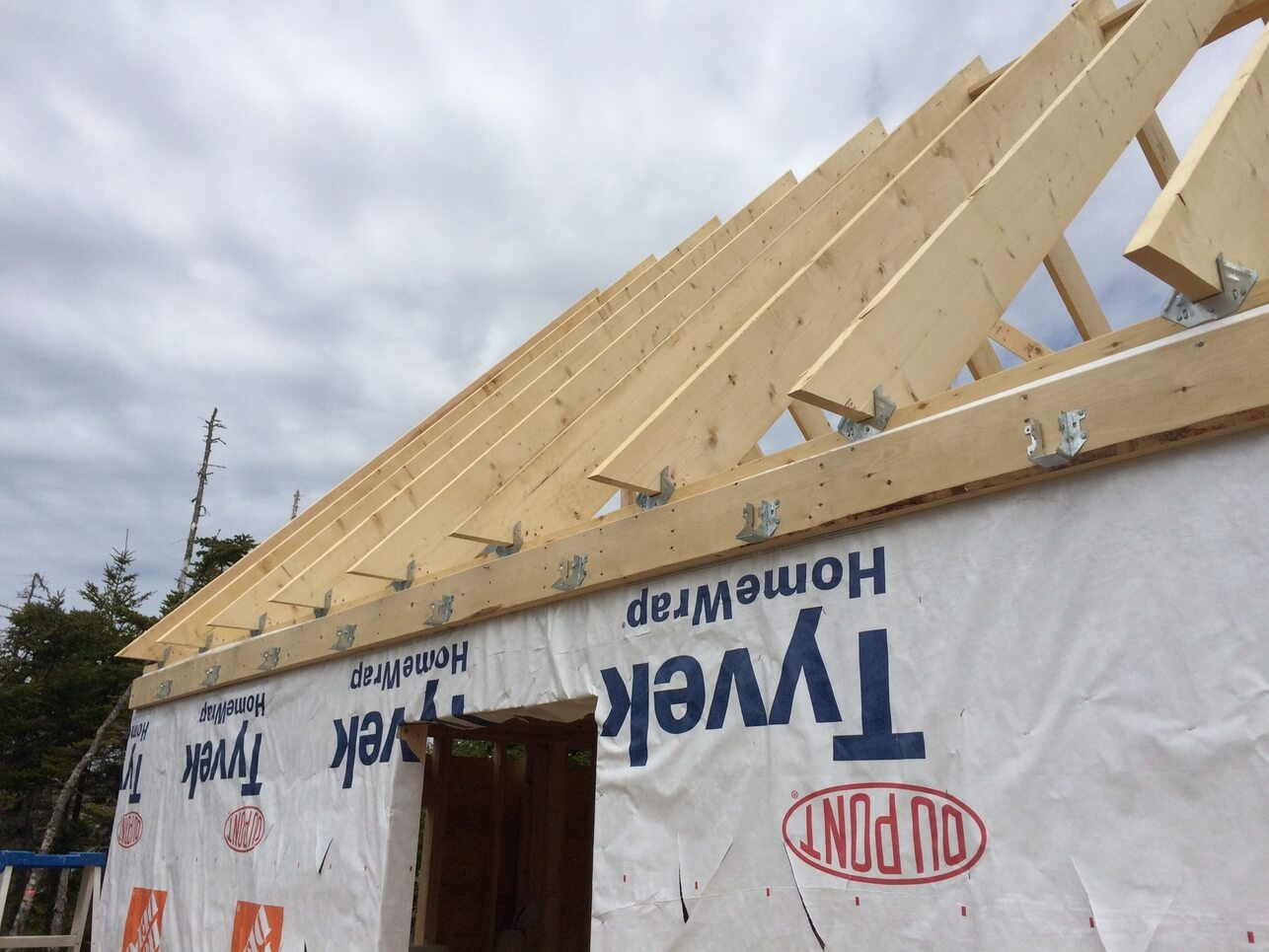 The Off Grid Cabin Front Deck Ceiling Joist