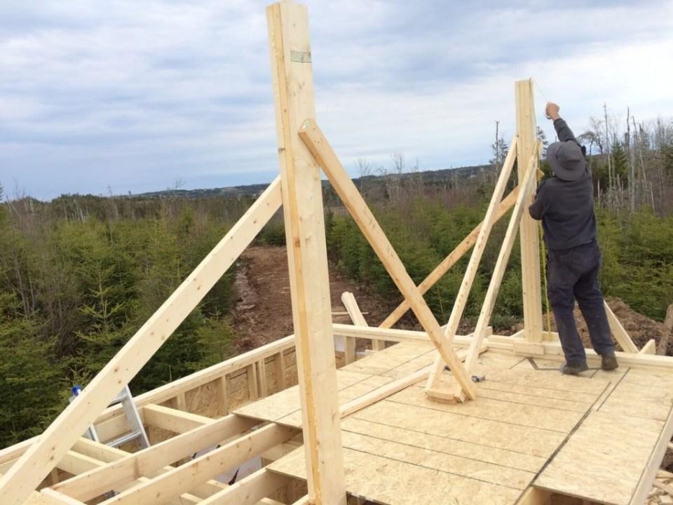 The-Off-Grid-Cabin-Roof-Ridge-Beam-Post-1