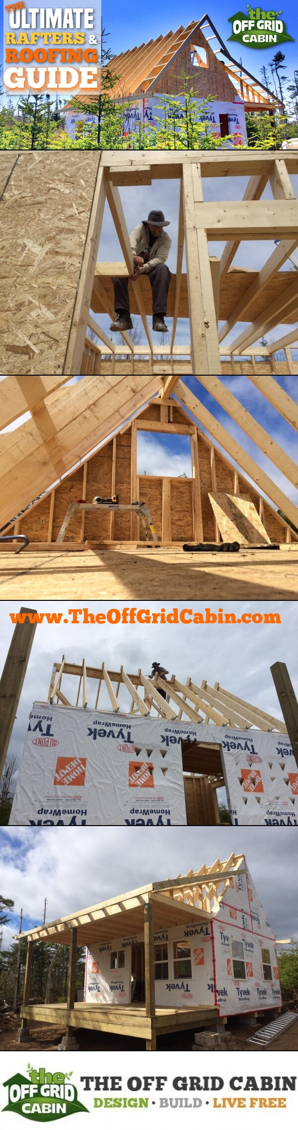 The Ultimate Roof and Rafter Guide For Cabins & Tiny Homes Pinterest Image