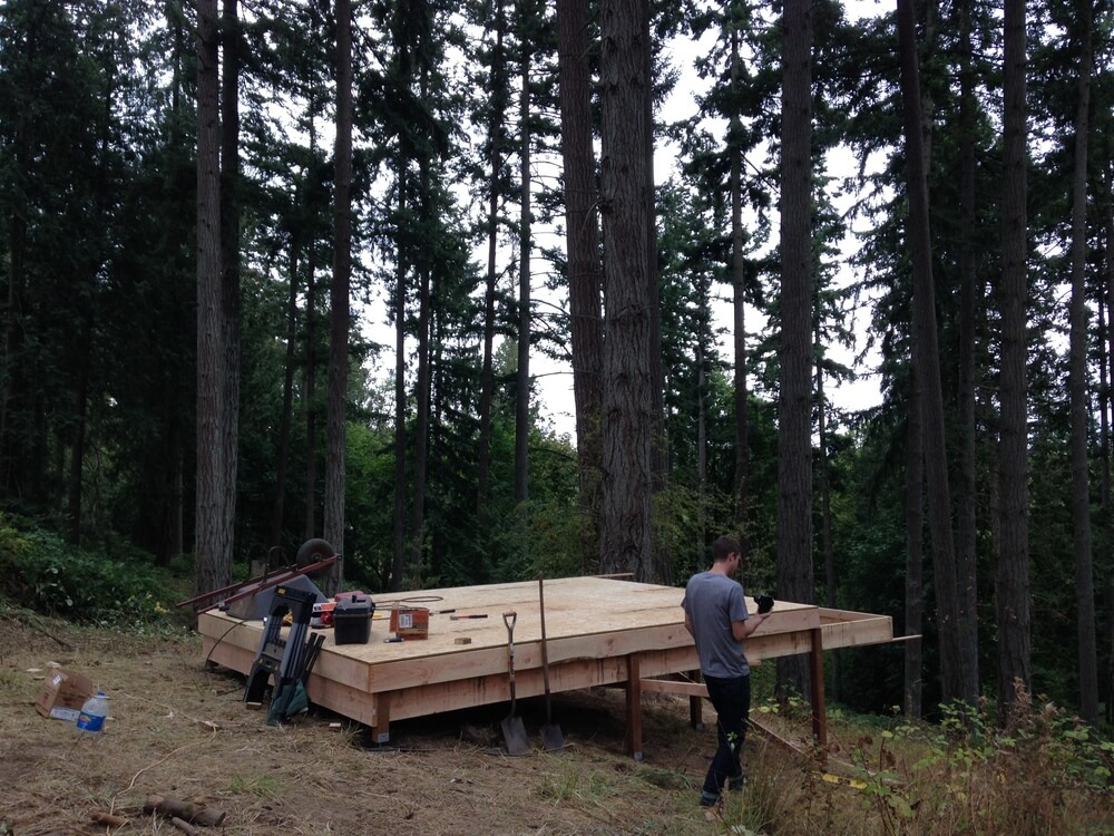 off grid cabin six day cabin day 1-9