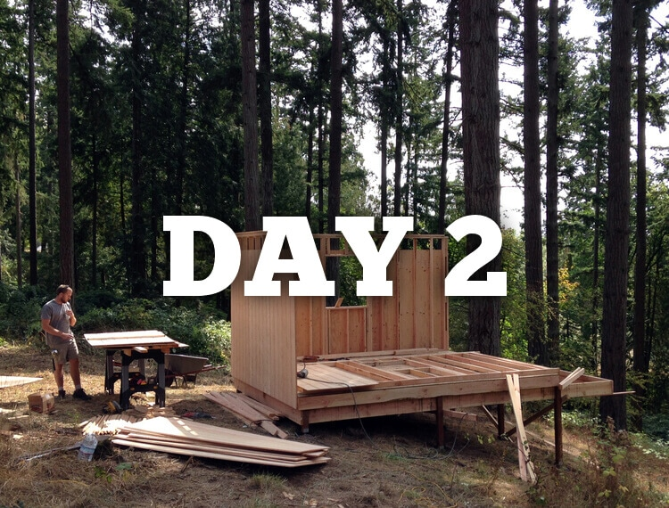 The Six Day Cabin Build Day 2
