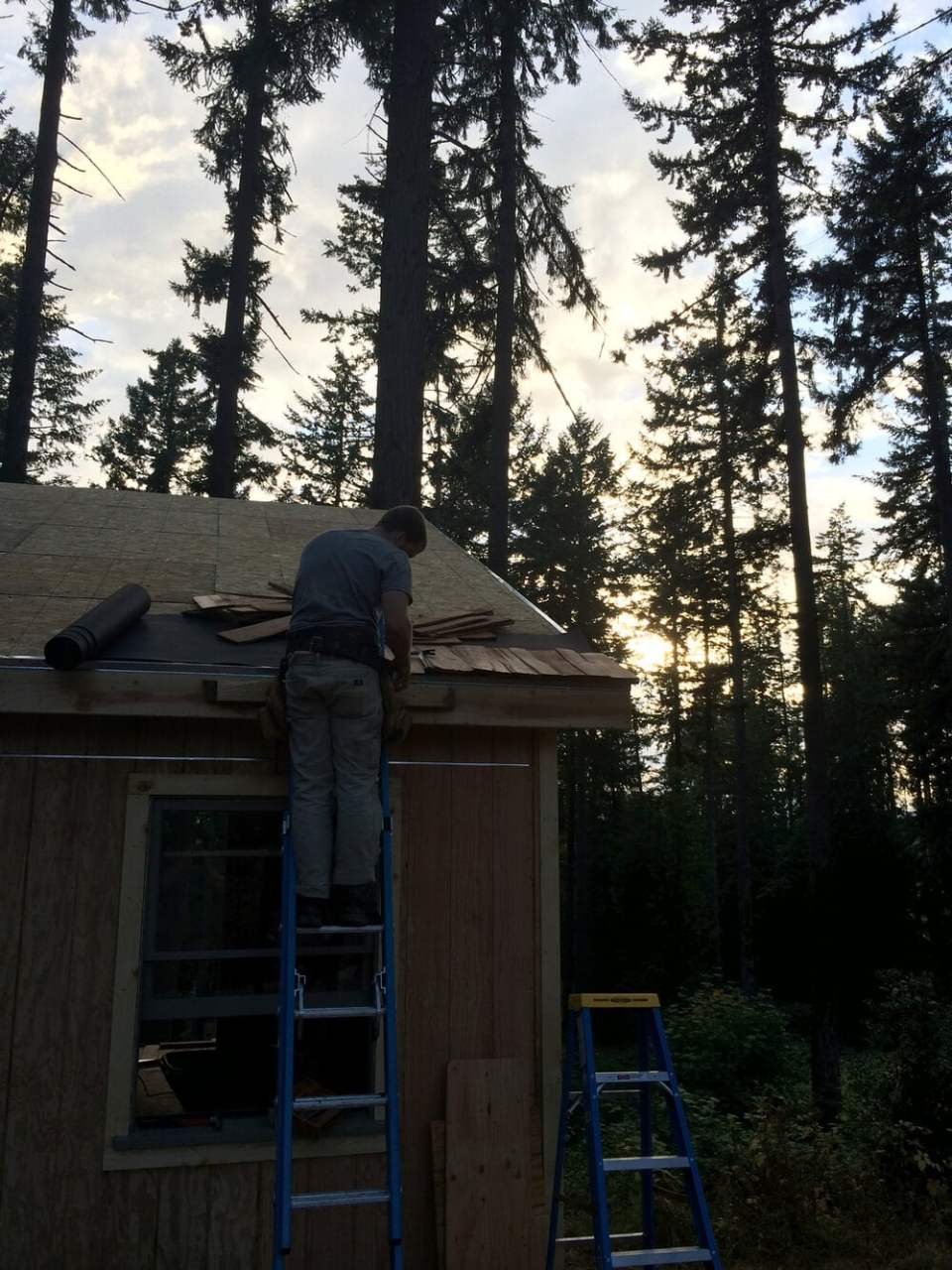 off grid cabin six day cabin day 5-7