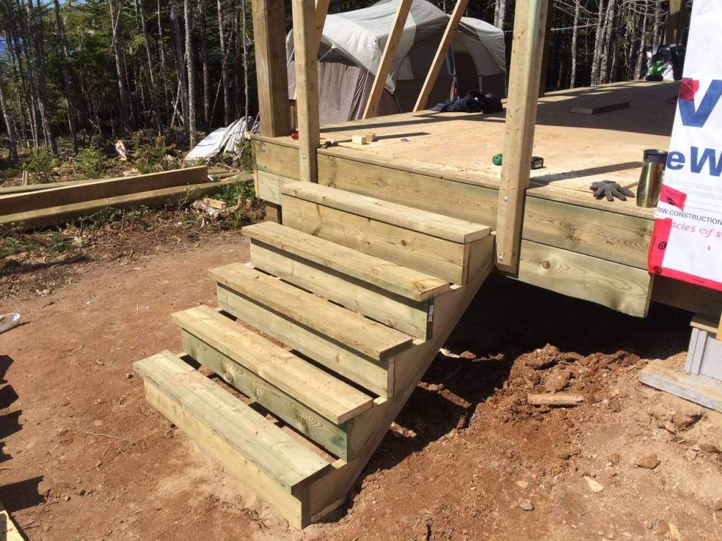 The-Off-Grid-Cabin-Deck-Stairs
