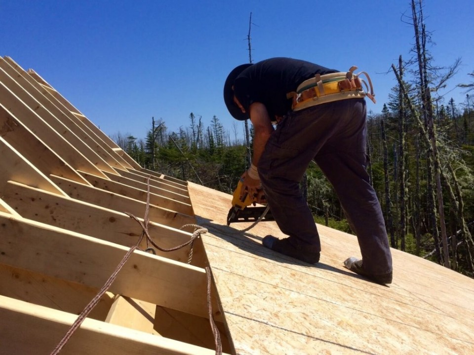 The-Off-Grid-Cabin-Roof-OSB-Sheathing-nailing-over-deck-2