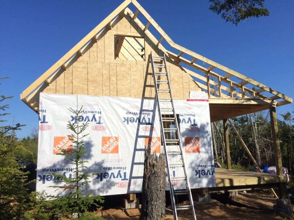 The-Off-Grid-Cabin-West-Side-Roof-Ladders-Complete-2