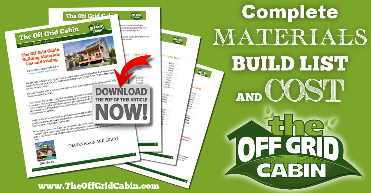 The Off Grid Cabin Complete Build List and Materials Image