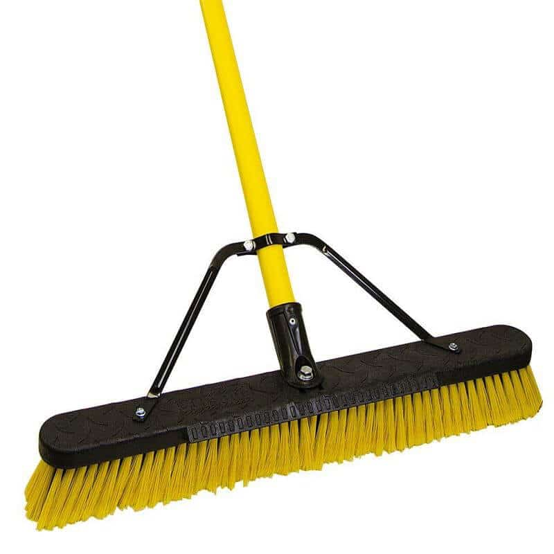 Jobsite 24 Inch Multi Surface Fiberglass Push Broom
