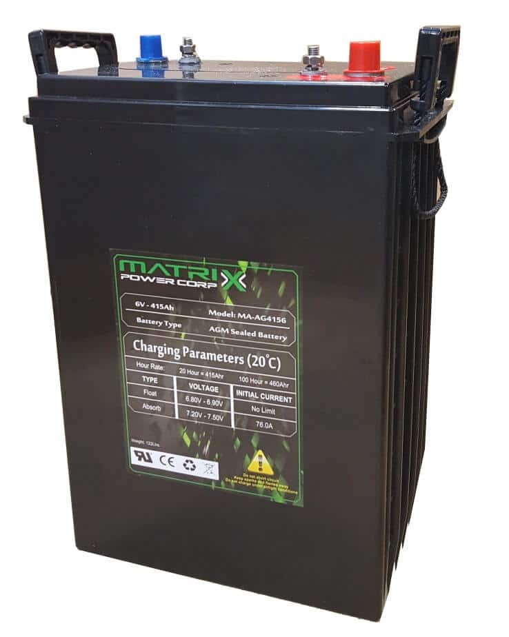 Matrix Infinity - 6 Volt, 440 Amp-20 Hour AGM Battery