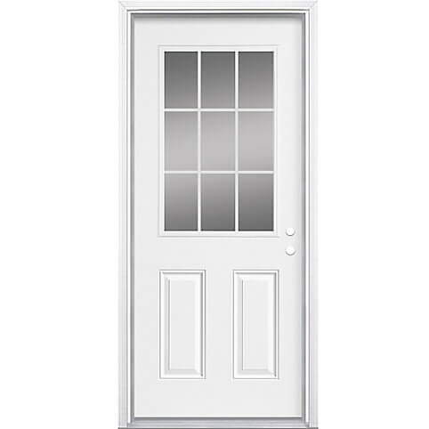 Masonite 36-inch 9-Lite Internal Low-E Right Hand Door