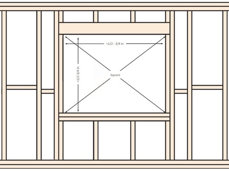 Measure Window Opening Diagonal