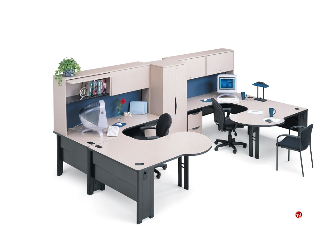 Office Desk For 2 The Office Leader. Abco Endure Endconfig8, 2 Person U