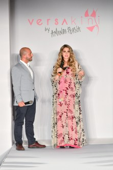 MIAMI BEACH, FL - JULY 13: Designer Amanda Perna speaks at the Versakini x Amanda Perna Runway Show Presented By Ivy at W South Beach on July 13, 2016 in Miami Beach, Florida. (Photo by Slaven Vlasic/Getty Images for Versakini)