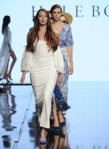 LOS ANGELES, CA - OCTOBER 10: Models walk the runway wearing Hale Bob at Art Hearts Fashion Los Angeles Fashion Week presented by AIDS Healthcare Foundation on October 10, 2016 in Los Angeles, California. (Photo by Arun Nevader/Getty Images for Art Hearts Fashion)