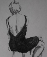 drawing the little black dress