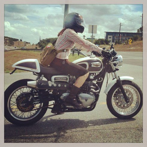 girl on a motorcycle - the off parent